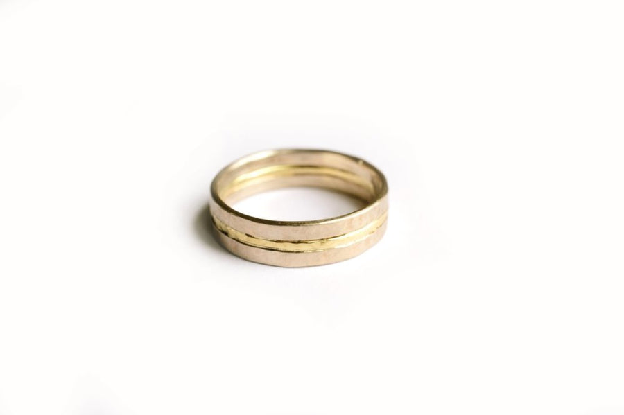 Modern Men's Gold Wedding Band