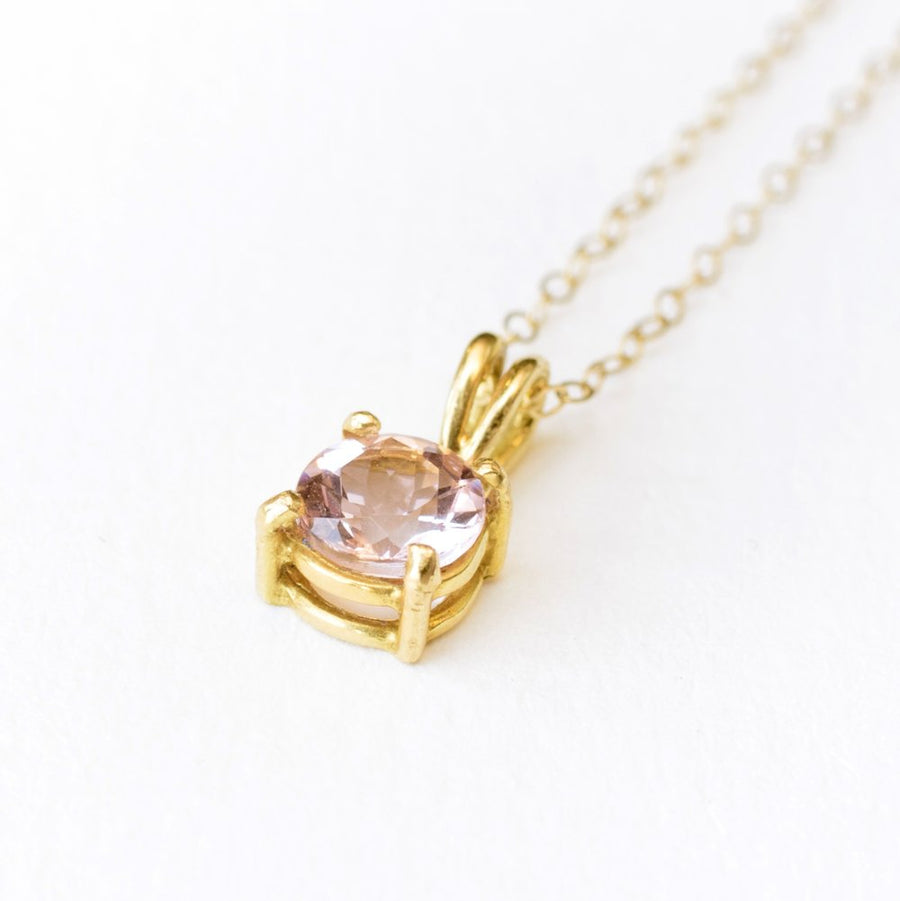 Morganite | Pendant Necklace - Melissa Tyson Designs
