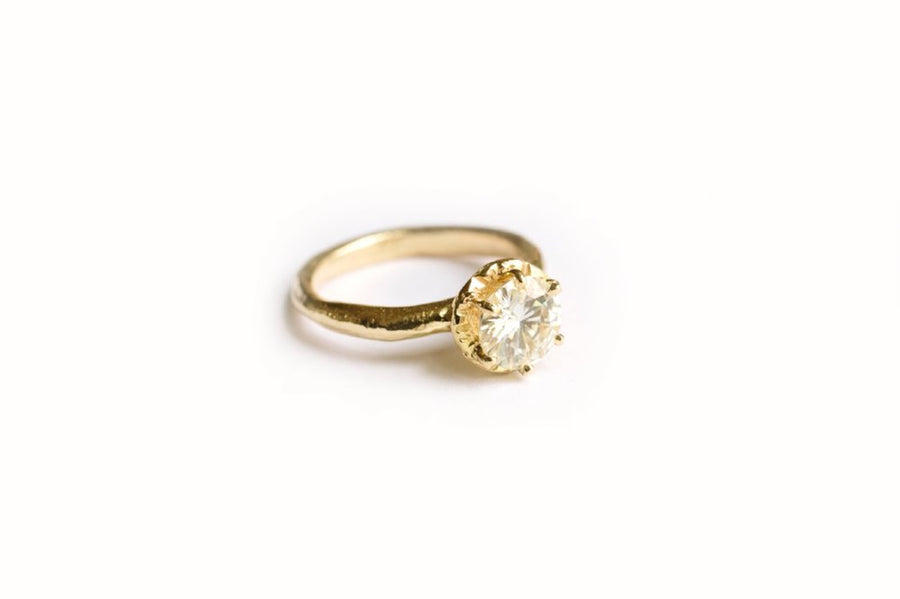 Leo | Moissanite Engagement Ring - Melissa Tyson Designs