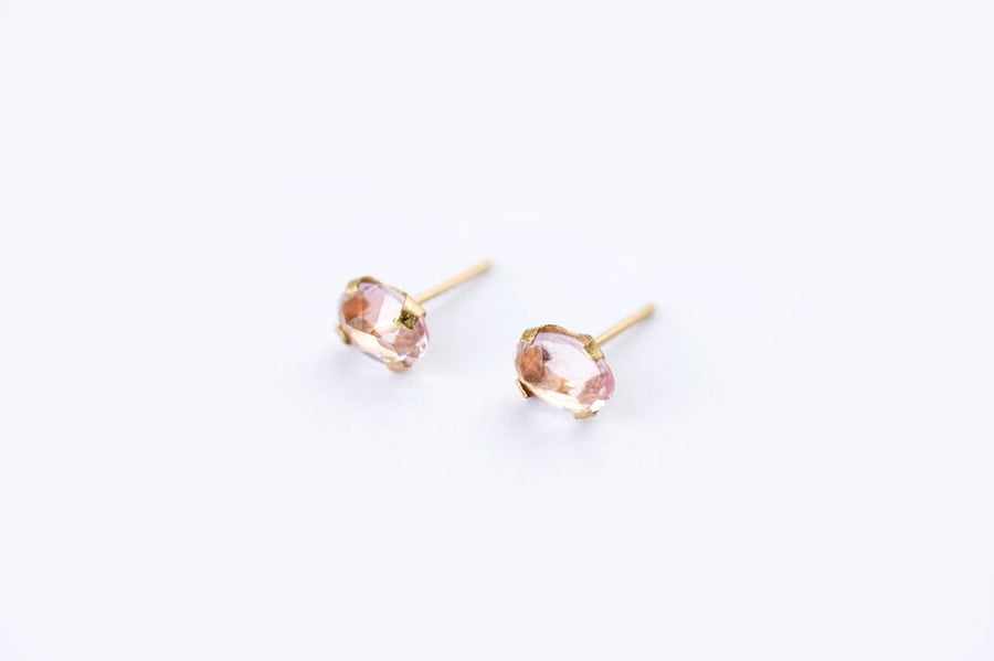 Morganite | Stud Earrings - Melissa Tyson Designs