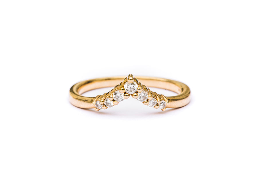 Big V Diamond Stacking Band - Melissa Tyson Designs