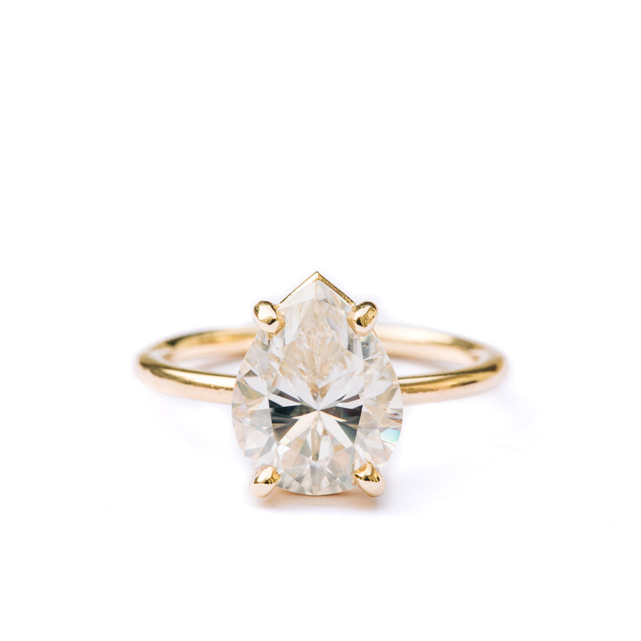 Giana | Pear Moissanite Engagement Ring