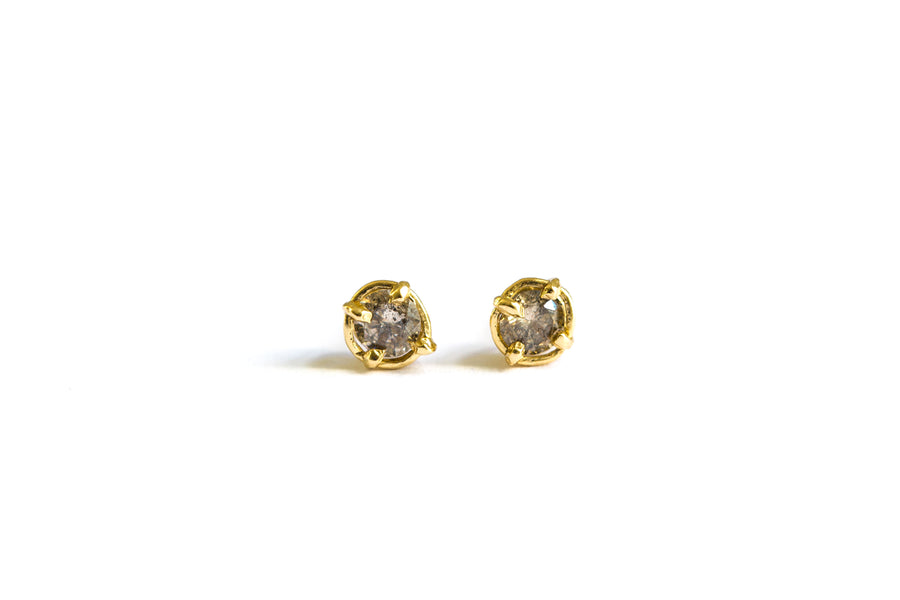 Salt and Pepper Diamond Studs | Gray Diamond Earrings - Melissa Tyson Designs