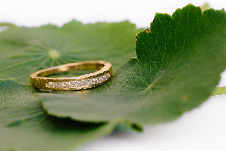 Diamond Stepping Stone Wedding Band - Melissa Tyson Designs
