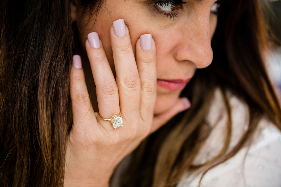 Journee | Cushion Cut Moissanite Engagement Ring - Melissa Tyson Designs
