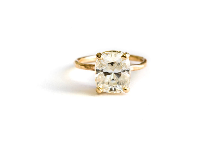 Cushion Cut Moissanite Engagement Ring