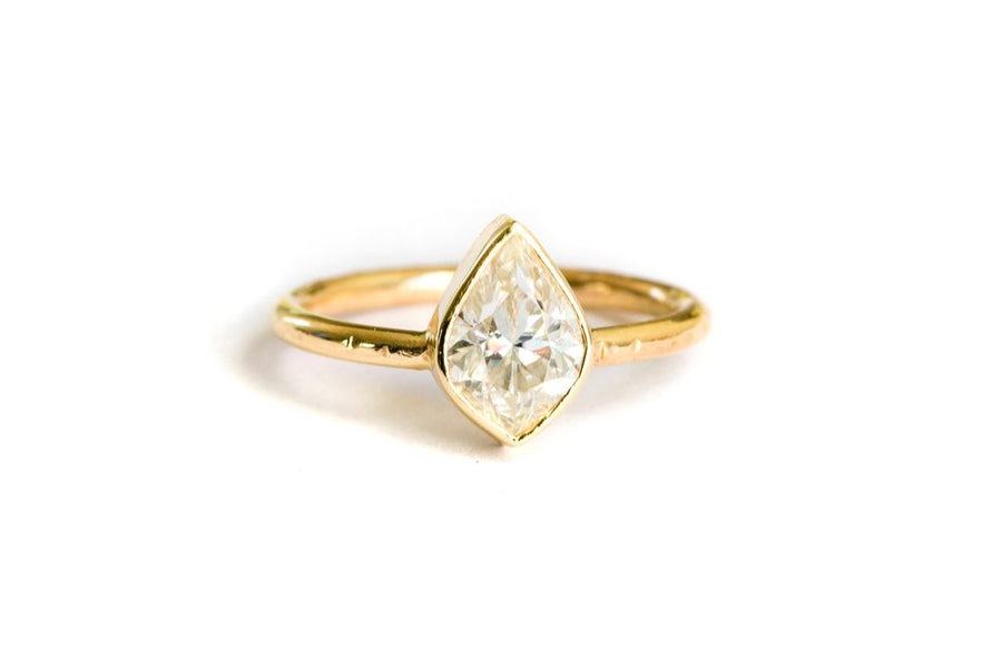 Moroccan Marquise Moissanite Engagement Ring