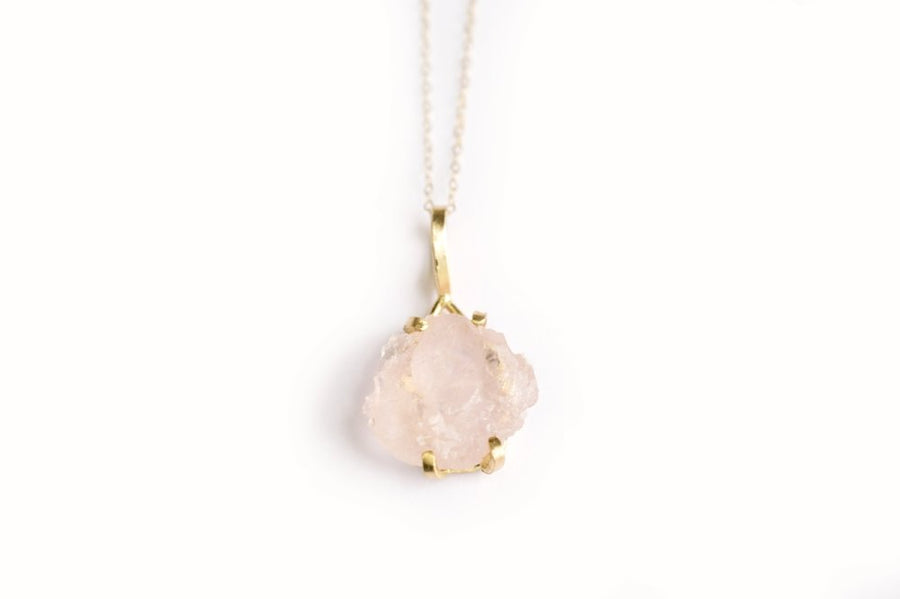 Raw | Rose Quartz Necklace - Melissa Tyson Designs
