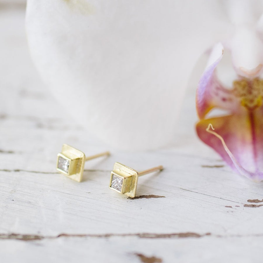 Caroline | Milgrain Stud Earrings - Melissa Tyson Designs