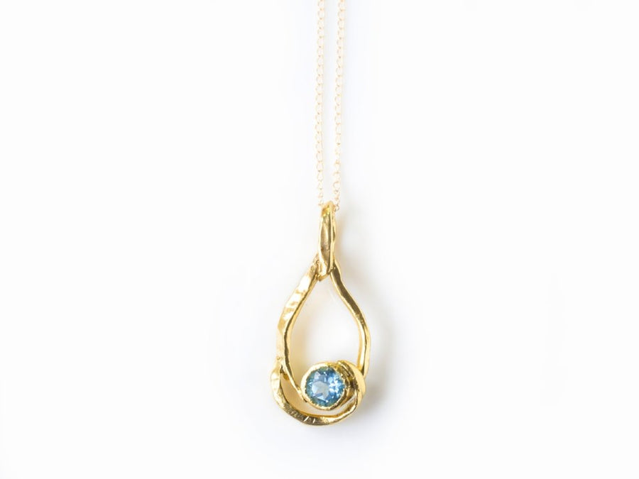 Morpho | Blue Topaz Necklace - Melissa Tyson Designs
