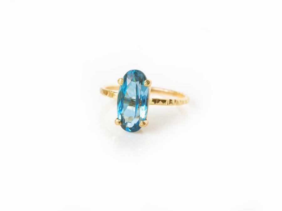 London Blue | Topaz Engagement Ring - Melissa Tyson Designs