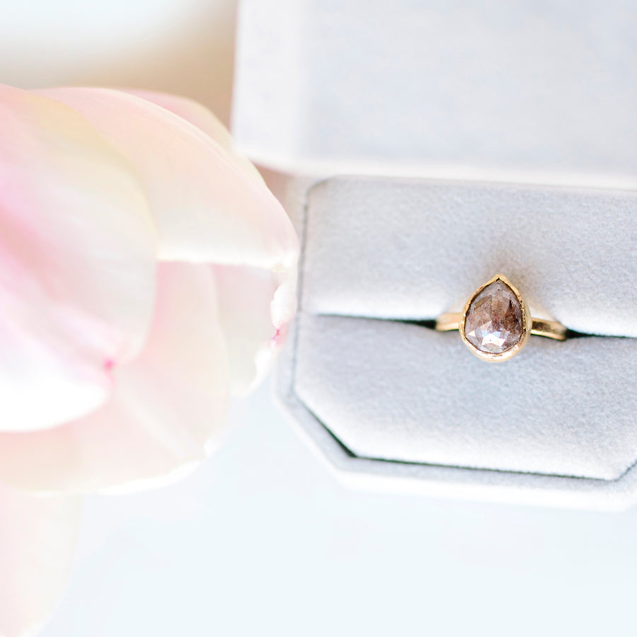 Earth | Brown Diamond Engagement Ring - Melissa Tyson Designs