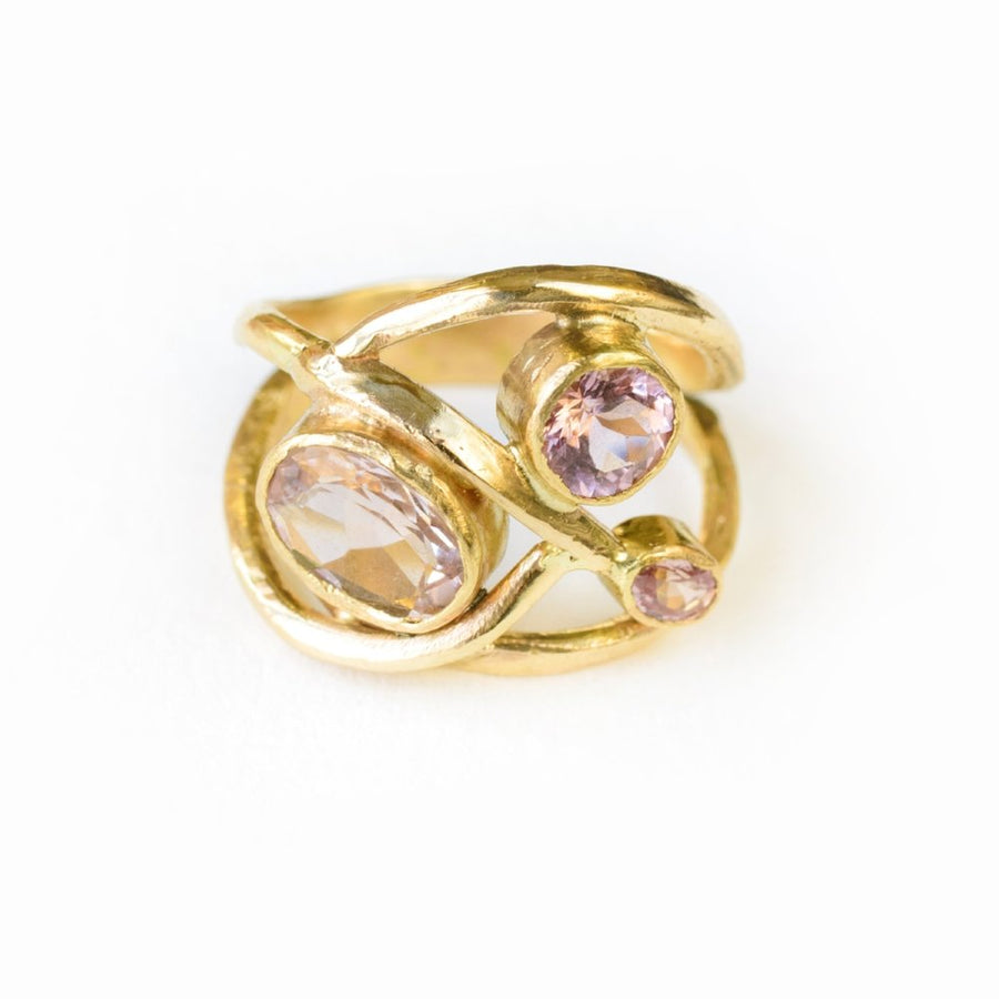 Peony | Morganite Gemstone Ring - Melissa Tyson Designs