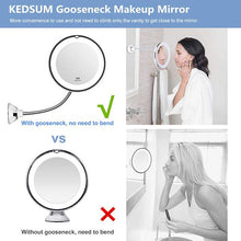 Load image into Gallery viewer, 10x Magnifying LED Lighted Makeup Mirror