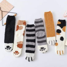Load image into Gallery viewer, Winter Cat Claws Cute Thick Warm Sleep Floor Sock
