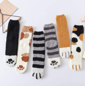 Winter Cat Claws Cute Thick Warm Sleep Floor Sock