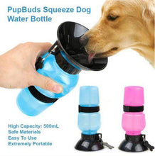 Load image into Gallery viewer, Portable Squeeze Dog Water Bottle