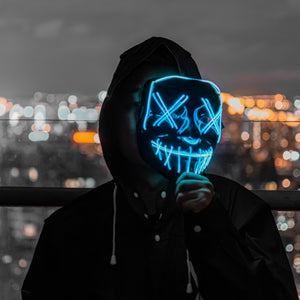 【Big Sale Today】 Halloween-Party & Rave LED Purge Mask