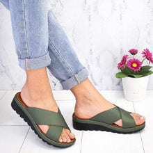 Load image into Gallery viewer, Summer Comfy Plain Peep Toe Casual Slippers