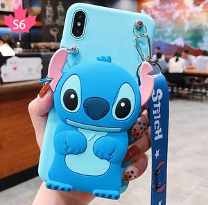 iPhone and SAMSUNG cartoon storage phone case