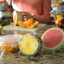 Load image into Gallery viewer, Zero-Waste Reusable Food and Container Lids - 6pcs
