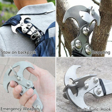 Load image into Gallery viewer, Stainless Steel Survival Folding Gravity Hook
