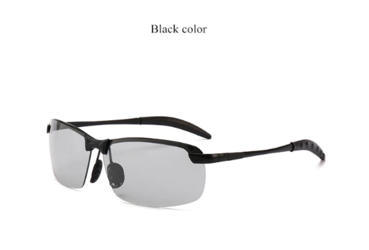 ZYC Men's Photochromic Sunglasses with Polarized Lens for Outdoor 100% UV Protection, Anti Glare, Reduce Eye Fatigue