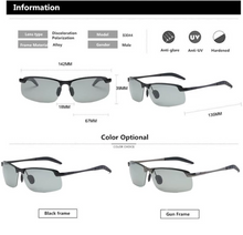 Load image into Gallery viewer, ZYC Men's Photochromic Sunglasses with Polarized Lens for Outdoor 100% UV Protection, Anti Glare, Reduce Eye Fatigue