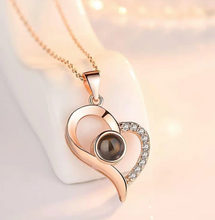 Load image into Gallery viewer, 100 I Love You Charm Rose Gold Silver