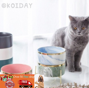 🔥KOIDAY 🔥Creative pet bowl feeder cat bowl pet ceramic cat, cat and dog tableware basin customization