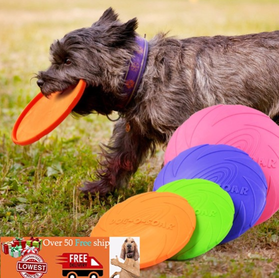 KOIDAY Dog Frisbee exercise pet toy Frisbee can float