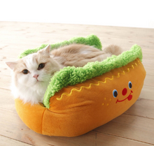 Load image into Gallery viewer, Dog shape pet bed kennel cat kennel puppy house mat washable pad