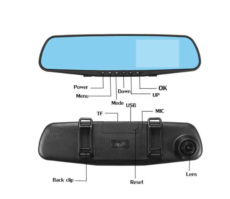 Global Technology-Dashcam/Rearcam Smart Mirror
