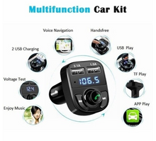 Load image into Gallery viewer, Newest Car Kit Bluetooth MP3 Player Hands-free Call Wireless FM Transmitter Radio Adapter DC 12-24V with Dual USB Car Charger