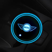 Load image into Gallery viewer, (ONLY $9.99 TODAY) 7 Colors Led Changing USB Charging Car Logo Cup Lights up Holder