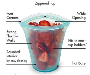 Zip Lock Leakproof Containers-Completely Plastic-Free