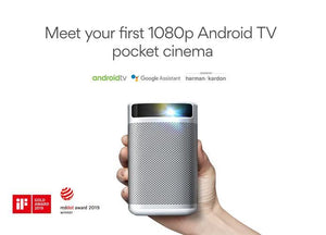 IMTV Pro:1080P Android TV Portable Projector with 5 Yrs Warranty