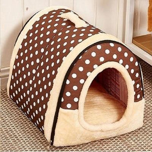 Pet Dog House Nest With Mat Foldable Pet Dog Bed Cat Bed House For Small Medium Dogs Travel Kennels For Cats Pet Products