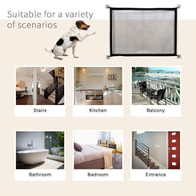 Load image into Gallery viewer, Pet Soft Magic Gate for Dogs Pet Fences Portable Folding Safe Guard Indoor and Outdoor Portable Folding Mesh Pet Gate For Cat