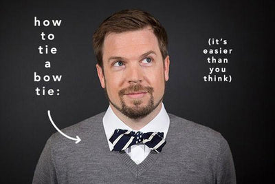 How To Tie A Bow Tie: via GK and Snippet & Ink