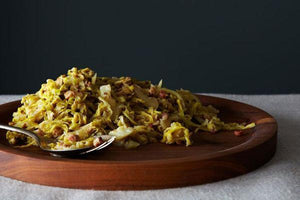 Our latest dinner obsession... Creamy Cabbage with Pancetta & Caraway Seeds