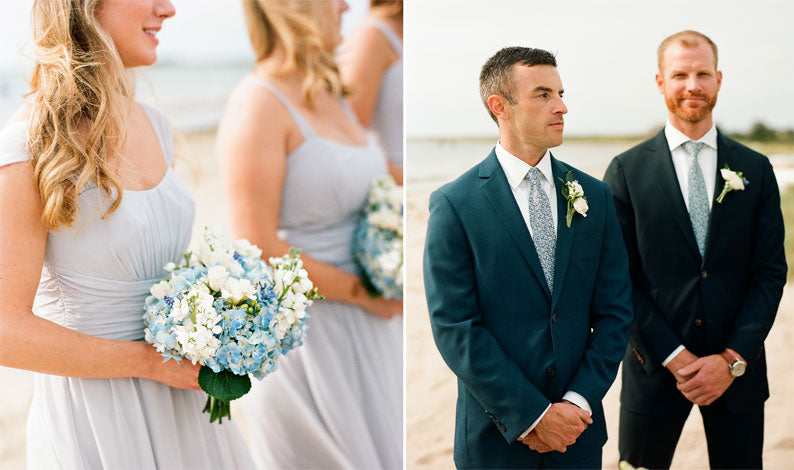 Nantucket Wedding, Beach wedding, grooms ties, blue wedding