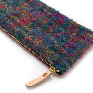 1940s Scottish Boucle Envelope Pouch - General Knot & Co. ,  Women's Carryalls - Neckwear and travel bags