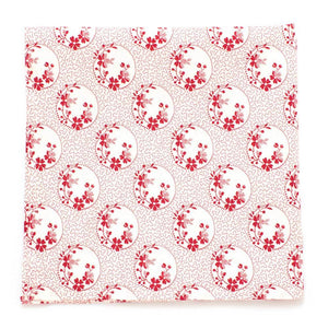 "1930s Cameo Floral Pocket Square - General Knot & Co. ,  Squares 13""x13"" - Neckwear and travel bags"