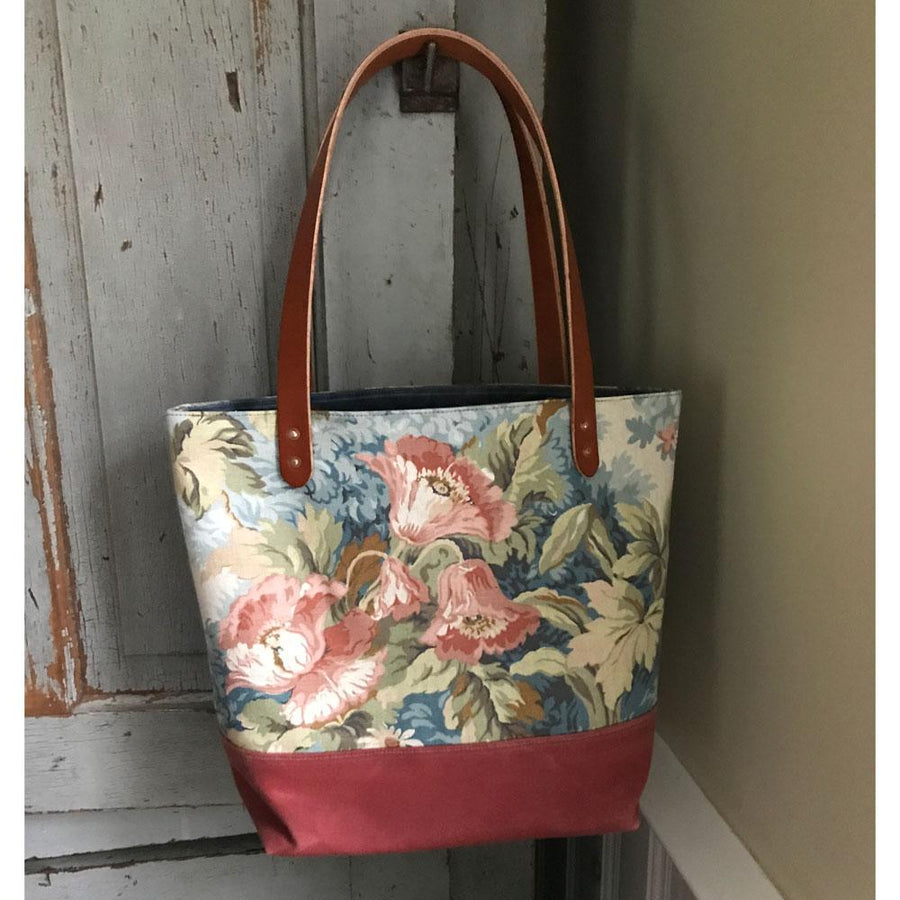1930s Floral Market Tote - General Knot & Co. ,  Bags - Neckwear and travel bags