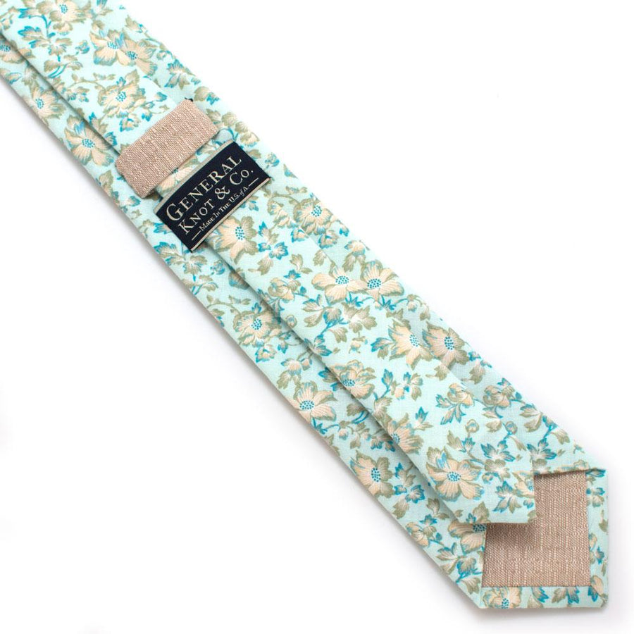 "1930s Flowering Dogwood Necktie - General Knot & Co. ,  Classic Necktie 2 7/8"" x 58"" - Neckwear and travel bags"