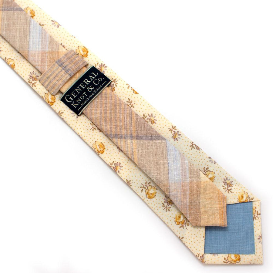 "1930s Texas Rose Necktie - General Knot & Co. ,  Classic Necktie 2 7/8"" x 58"" - Neckwear and travel bags"