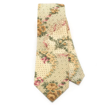 "1930s Wallflower Print Necktie - General Knot & Co. ,  Classic Necktie 2 7/8"" x 58"" - Neckwear and travel bags"