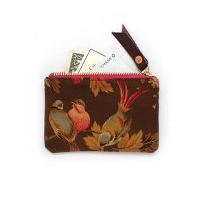 1940s Birds Zipper Wallet - General Knot & Co. ,  Women's Wallets - Neckwear and travel bags