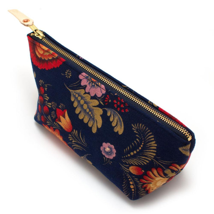 1940s Dark Flora Travel Clutch - General Knot & Co. ,  Bags - Neckwear and travel bags